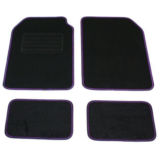 dbs tapis de sol voiture auto 4 pi ces avant arri re violet universel. Black Bedroom Furniture Sets. Home Design Ideas