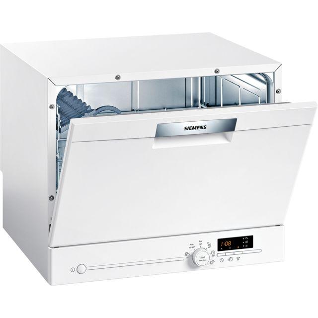 SIEMENS lave-vaisselle compact 6 couverts a+ pose-libre blanc - sk26e222eu