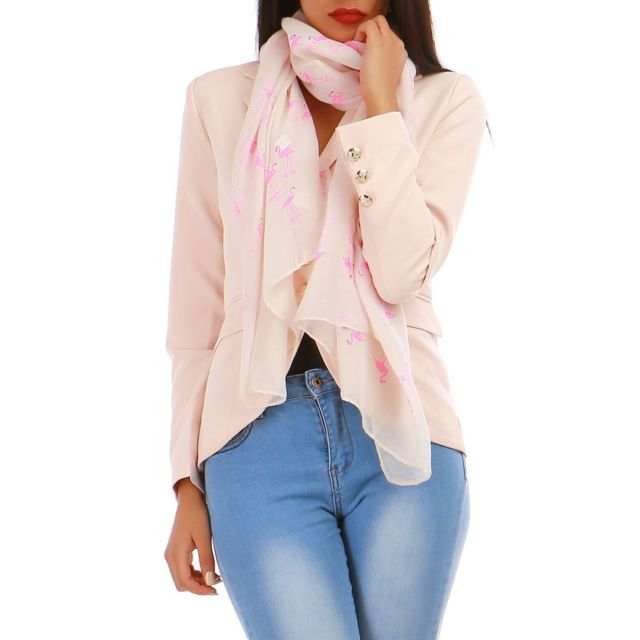 Lamodeuse - Foulard nude flamants roses - pas cher Achat   Vente ... 1add7893707