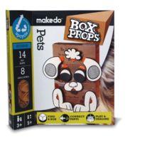 Makedo - 2705041 - Kit De Loisirs CrÉATIFS - Boxprops - Faces - Animaux Domestiques Parties RÉUTILISABLES