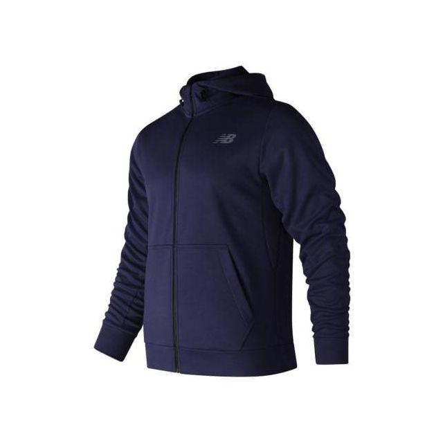New Balance Veste CoreFleece Full Zip Hoodie bleu foncé