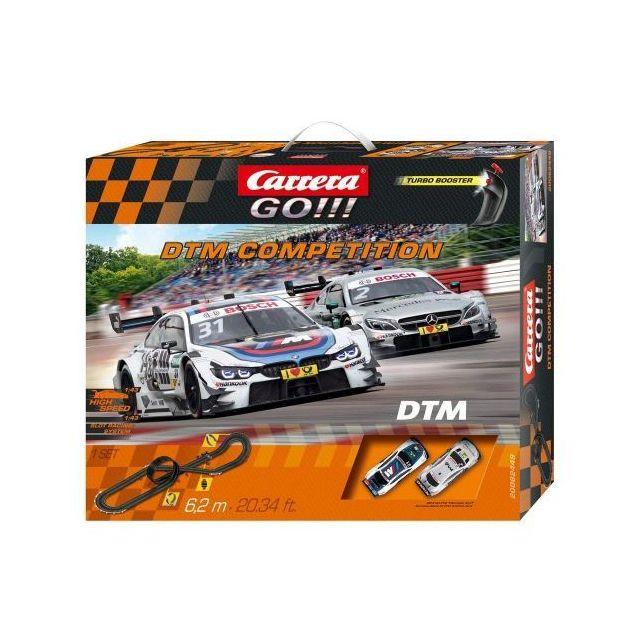 CARRERA Circuit voitures DTM Competition 1/43 - Dès 6 ans - GO!!! 62449