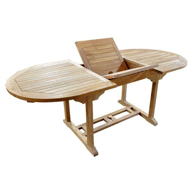 Wood En Stock - Table de jardin en teck brut table 8 places - pas ...