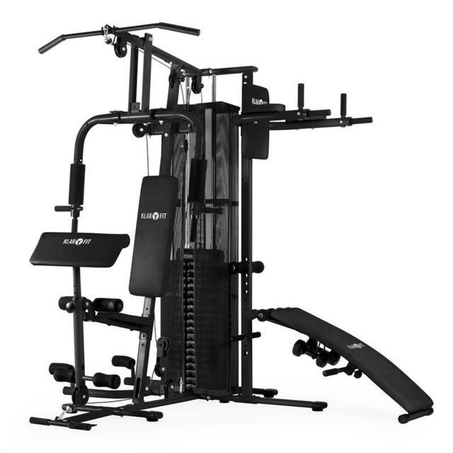 KLARFIT - Ultimate Gym 5000 appareil de musculation multifonctionnel - noir