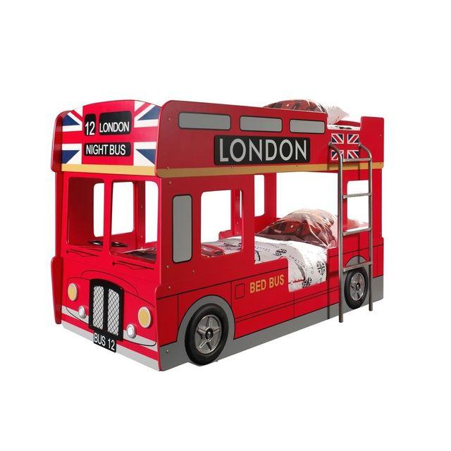 Vipack Funbeds Lit superpos bus londonien