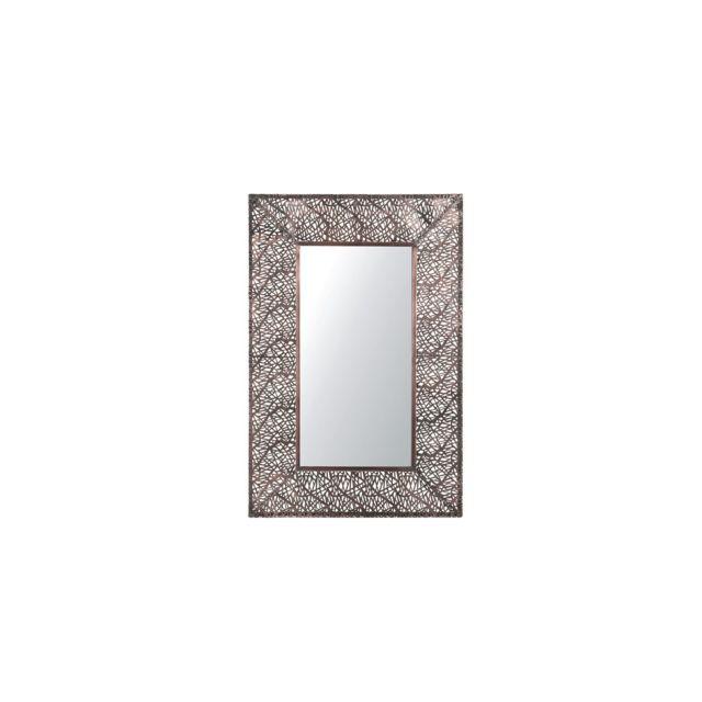BELIANI Miroir Laiton 90 x 60 cm BRIENNE - marron