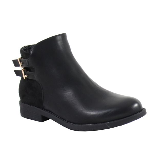 Alistair Bottine Pas Style Femme Vintage By Noir Cuir Shoes 7BEwq7xTr