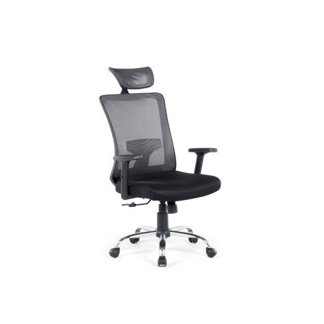 BELIANI Chaise de bureau noire NOBLE - noir
