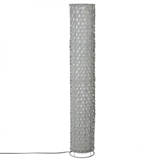 Paris Prix Lampe de Sol Bambou 120cm Gris
