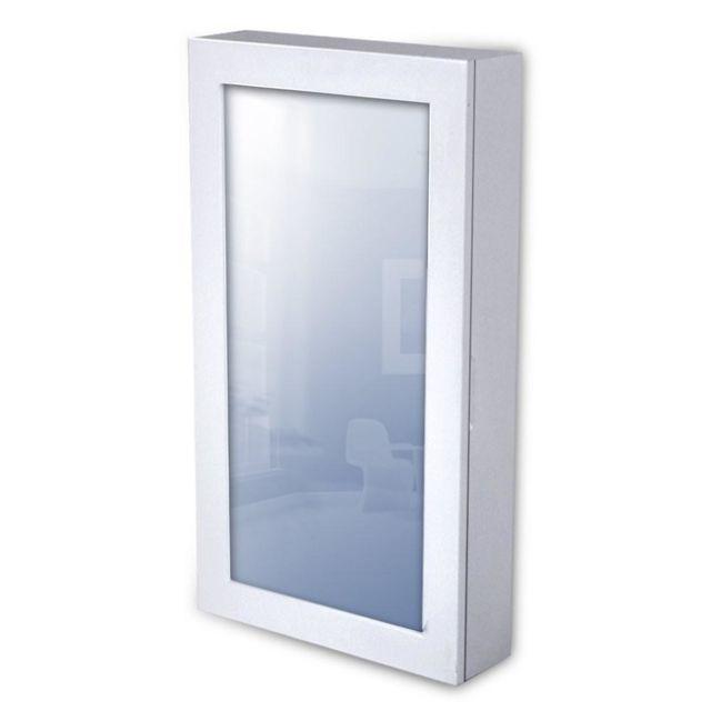 Helloshop26 Armoire à bijoux design rétro 56 cm murale blanche miroir 1401036
