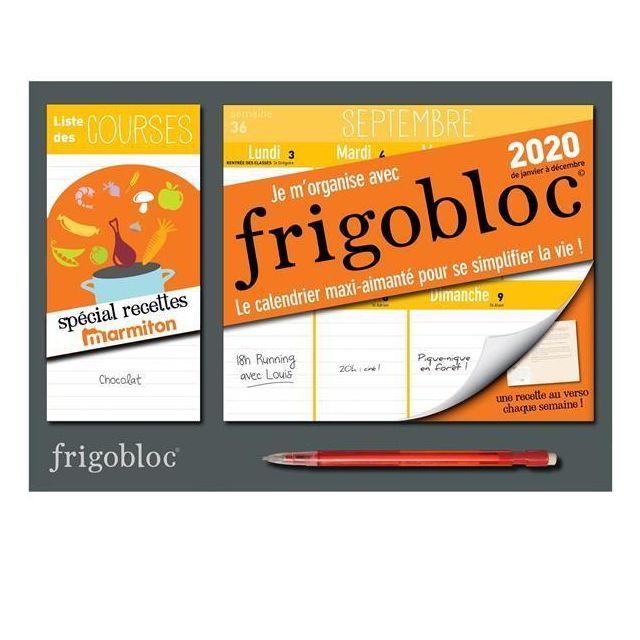Frigobloc 2017//2018 Calendrier dorganisation familiale par semaine