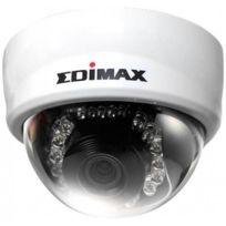 Edimax - Caméra mini dome Ip Poe blanche vision nuit détection de mouvement motorisé 2 mégapixels filaire