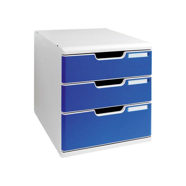 5d7fa7d8d6c8a Exacompta - Modulo tiroirs bleu - pas cher Achat   Vente Boîtes d ...