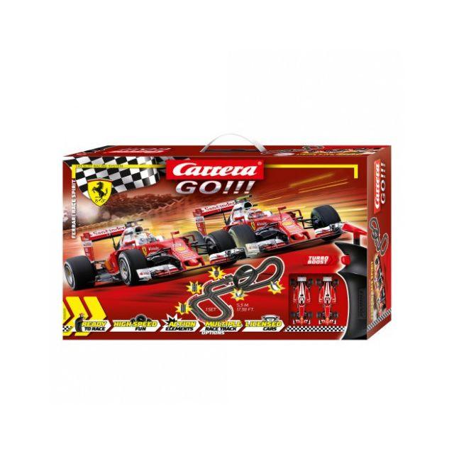 CARRERA Circuit voitures Ferrari Race Spirit 1/43 - Dès 6 ans - GO!!! 62505