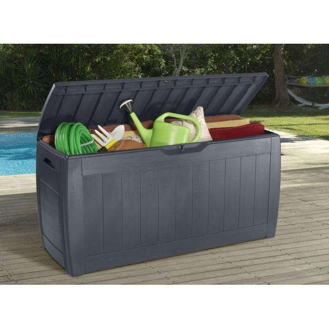 marque generique coffre hollywood 270l gris pas cher achat vente coffre de jardin. Black Bedroom Furniture Sets. Home Design Ideas