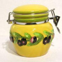 B.E.C. - Pot hermétique Faïence décor Provence 750 gr