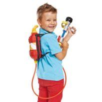 Smoby - Pistolet à eau avec recharge dos : Sam le pompier