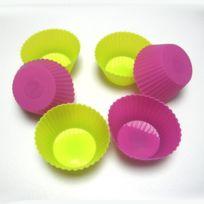 Baumstal - Moules caissettes par 6 Silicone Souple de 7 cm