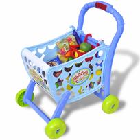 Rocambolesk - Superbe Chariot de supermarché de jouet 3 en 1 Bleu neuf