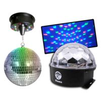 Disco pro - Pack 2 effets Astro Ball Diams + Boule Leds 20