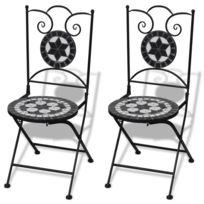 Table de jardin en mosaique avec chaises - Achat Table de jardin en ...