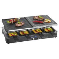 Clatronic - Raclette pierrade pour 8 personnes Rg 3518 noir 2 en 1