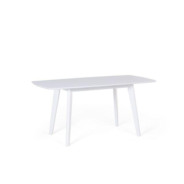BELIANI Table de cuisine extensible 120x160 blanche SANFORD - blanc
