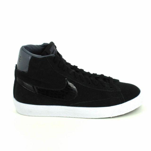 100% high quality latest fashion hot sales Nike - Blazer Mid Jr Noir Gris - pas cher Achat / Vente ...