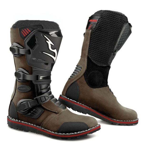 2592e89efd143 FALCO - bottes moto cross trial 261 EDGE EVO TRIAL d3o marron 39 ...