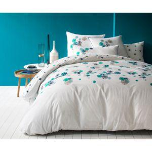 matt rose housse de couette imprim fantaisie navy emeraude 100 coton matt et rose navy. Black Bedroom Furniture Sets. Home Design Ideas