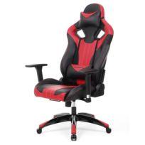 375177e410e69 Chaise Gaming Ergonomique, Fauteuil Gamer au Design innové, Fauteuil de  Bureau à Dossier Haut, Large Coussin Lombaire, Noir, Rouge Rcg33R