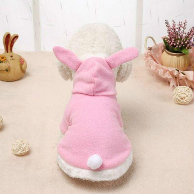 Wewoo Vêtements pour animaux domestiques chien rose tendre oreilles de lapin vêtementstaille l
