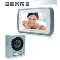 Thomson - Interphone Vidéo couleur 2 fils écran 7'' finition aluminium mains libres 1 platine de rue alu capteur Ccd 512162