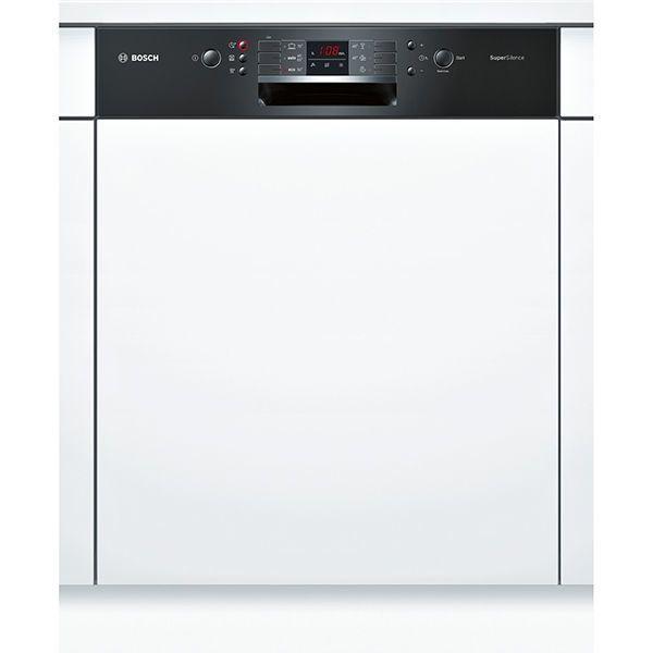 Bosch lave-vaisselle 60cm 13 couverts a++ intégrable avec bandeau apparent noir - smi63n16eu