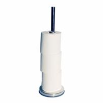 Tiger - Porte-rouleau papier toilette en métal argenté 13,4x13,4 cm