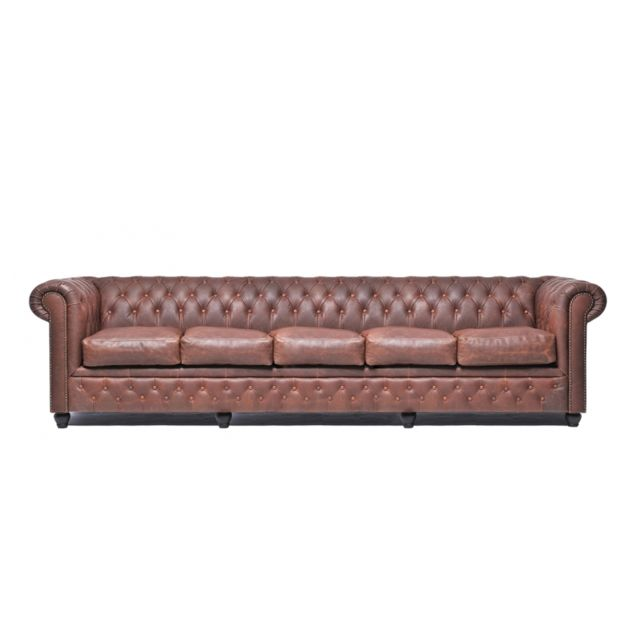 CHESTERFIELD Vintage 5 places Brun