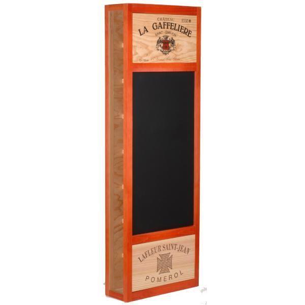 CavidÉCO Pierre Goujon Meuble de rangement en bois 8 bouteilles avec ardoise latérale - Orange - CavidÉCO Pierre Goujon - Aci-cvc103O