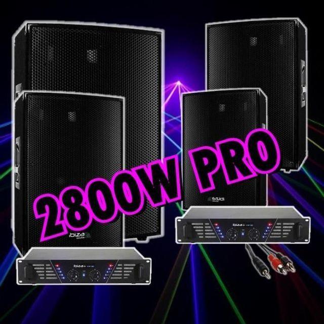 Ibiza Sound Pack sono 2800w 4 enceintes 700w - 2 amplis sono