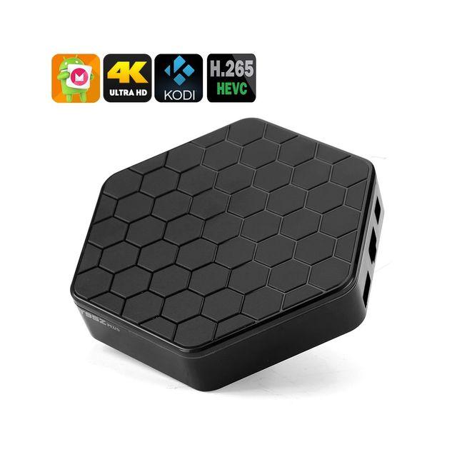 Auto-hightech Smart box tv Amlogic S912 Cpu, 2 Go de Ram, 4K, Android 6.0, Kodi 16.1, Dual Band Wi-Fi, Spdif, Airplay, Dlna, Miracast