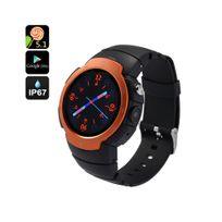 Auto-hightech - Montre sport téléphone Android 5.1 3G étanche Ip67, appareil photo 5MP, moniteur de fréquence cardiaque orange
