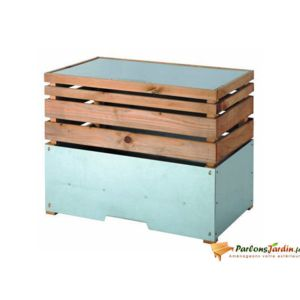 Jardipolys Bac Compost En Bois Lign Z 200l Pas Cher Achat Vente Composteurs Rueducommerce