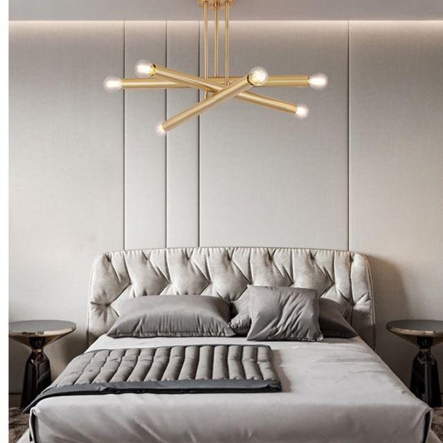 Wewoo Lampe suspendue Luminaire Salon Lustre de cuivre d