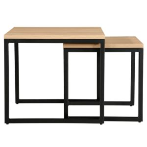latest rendez vous dco table basse carre kavu lot de with table basse hauteur 50. Black Bedroom Furniture Sets. Home Design Ideas