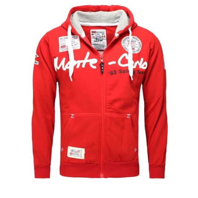 cher Vente capuche Sweat Achat Norway pas rouge Geographical qxSz4HXwOO