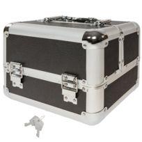 Helloshop26 - Mallette trolley valise esthétique coiffure boîte à maquillage bijoux noir 2008016