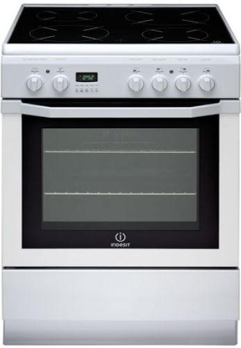 Indesit - Cuisinière Vitrocéramique Four Catalyse FULL GLASS I6V6C6A W, /FR I 6 V 6 C 6 A W FR
