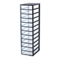 SUNDIS - Tour de rangement Orgamix - 12 tiroirs - Noir - 4279001