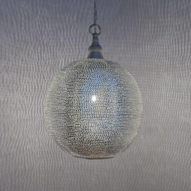 Zenza - Ball Filisky - Suspension Argent Ø27cm