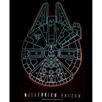 Cotton Division - Tshirt homme Star Wars Vii - Millennium Falcon