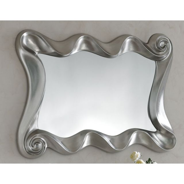 Nouvomeuble Miroir gris argent design Ortence